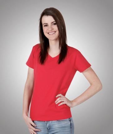 Ladies Slim Fit Cotton Lycra T-Shirt - Model