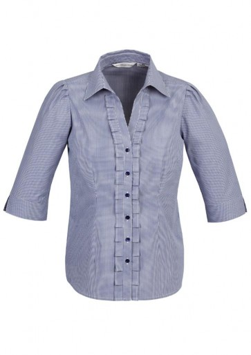 Biz Collection Ladies Edge 3/4 Sleeve Shirt
