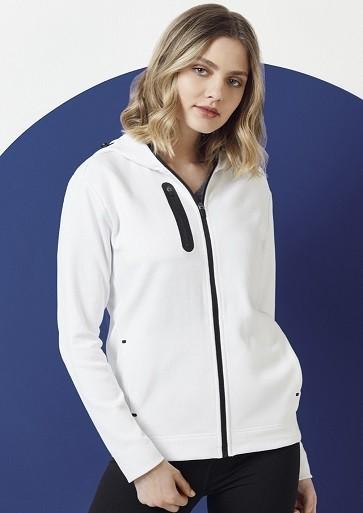 Biz Collection Ladies Neo Hoodie - White Model