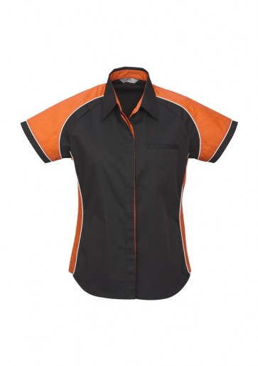 Biz Collection Ladies Nitro Shirt - Black Orange White
