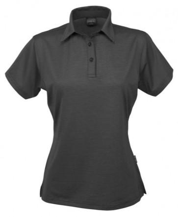 Stencil Ladies Silvertech Short Sleeve Polo Shirt  - Charcoal Silver