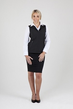 Ramo Ladies Tempest Soft Shell Vest - Black Model Front