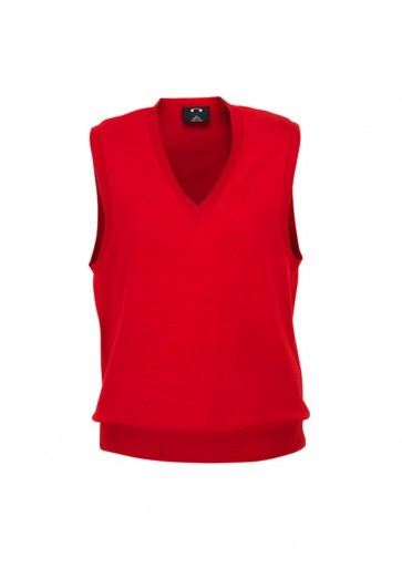 Ladies V-Neck Vest - Red