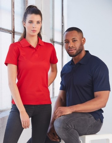 Winning Spirit Ladies Verve Polo Shirt - Models Red and Navy