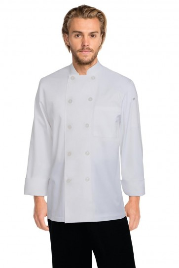 Chef Works Le Mans White Chef Jacket - Front