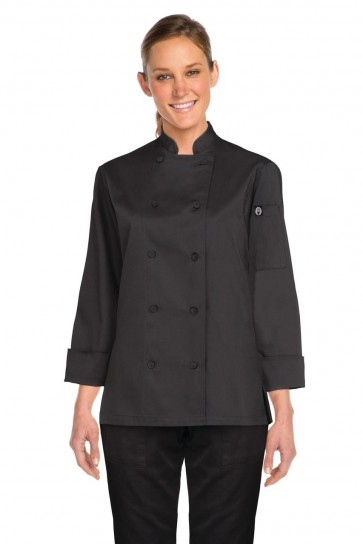 Chef Works Marbella Women's Chef Jacket - Black
