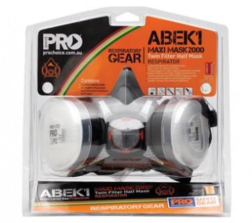 Pro Choice Assembled Half Mask with ABEK1 Cartridges