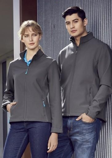Biz Collection Men's Apex Light Weight Softshell Jacket - Grey Models
