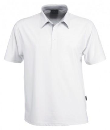 Stencil Men's Argent Short Sleeve Polo Shirt - White