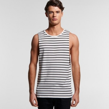 AS Colour Men's Barnard Stripe Tank - Natural Black Front
