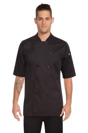 Chef Works Men's Black Chef Shirt - Front