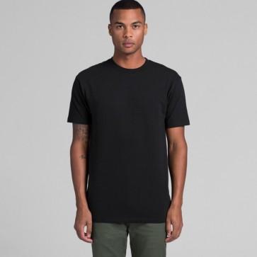 AS Colour Men's Block Tee (3XL-5XL) Black Model Front