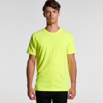 AS Colour Men's Block Tee - Safety Yellow Model Front