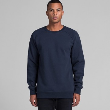 AS Colour Mens Box Crew - Navy Model Front