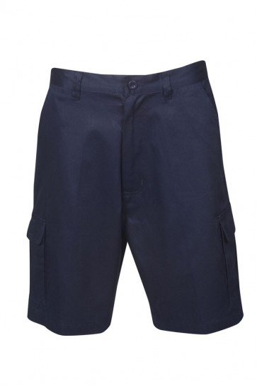 Blue Whale Light Weight Cargo Navy Shorts 190gsm-  Front