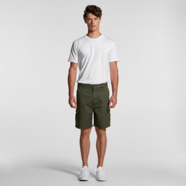 AS Colour Men's Cargo Shorts - Army Model Front