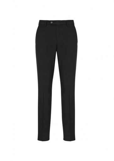Biz Collection Mens Classic Slim Pant - Black