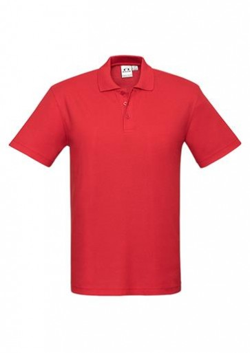 Biz Collection Mens Crew Polo 210 gsm - Red