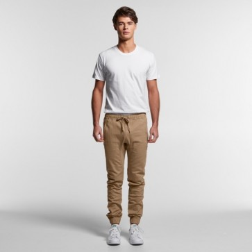 AS Colour Men's Cuff Pants - Khaki Model Front