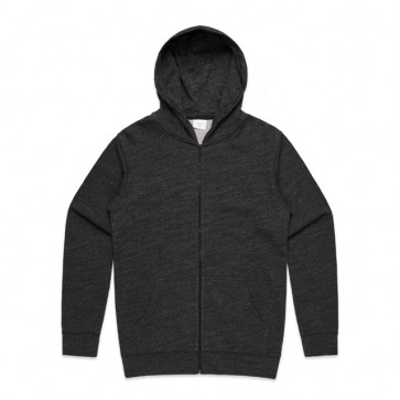 AS Colour Men's Fleck Zip Hood - Black Fleck