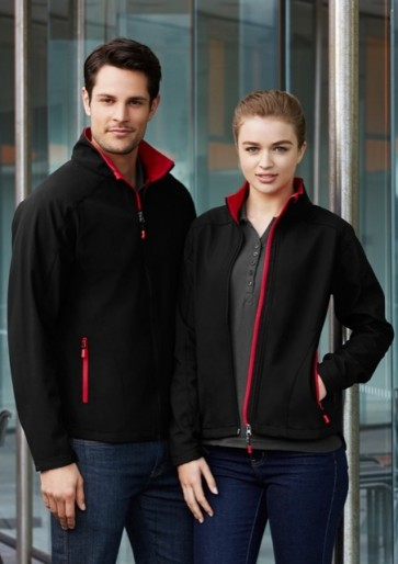 Mens Geneva Jacket - Models Black Red