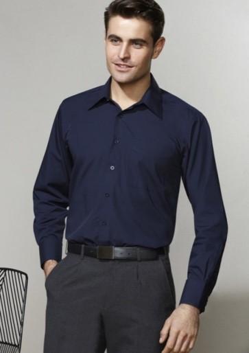 Biz Collection Men's Metro Long Sleeve Shirt - Model