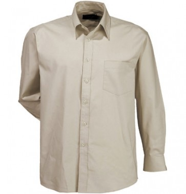 Stencil Mens Nano Shirt Long Sleeve - Beige