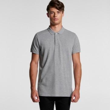 AS Colour Men's Pique Polo Shirt - Grey Marle Model Front