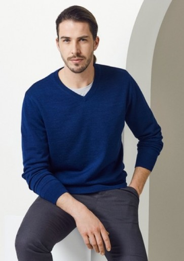 Biz Collection Men's Roma Pullover - French Blue Model