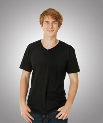 Blue Whale Mens Soft Feel V Neck T-Shirt - Model