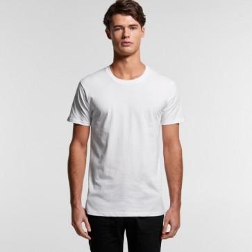 AS Colour Men's Organic Staple Tee - White Model Front