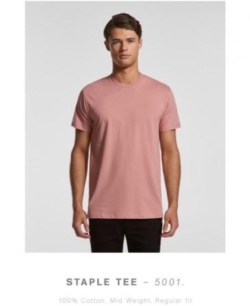 AS Colour Men's Staple Tee - Rose Model