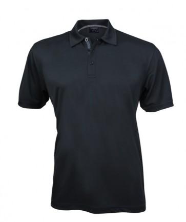 Stencil Men's Superdry Short Sleeve Polo Shirt - Black Charcoal