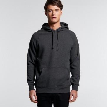 AS Colour Men's Supply Hood - Asphalt Marle Model Front