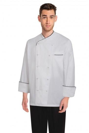 Chef Works Monte Carlo White 100% Cotton Chef Jacket