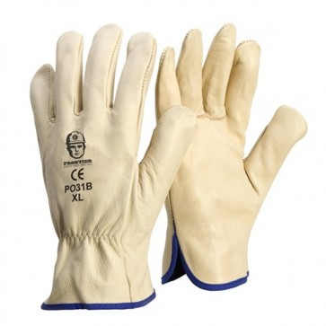 Premium Cowhide Rigger Beige Glove