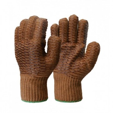Frontier Knitted Nylon Lattice Brown Glove