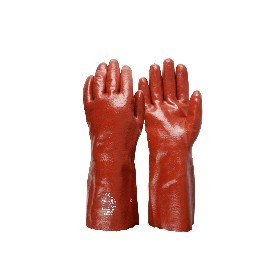Single Dipped Red PVC Glove 27cm