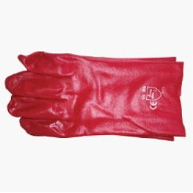 Single Dipped Red PVC Glove 35cm