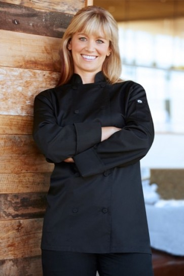 Chef Works Sofia Black Women's Lite Chef Jacket