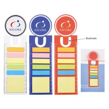 Sticky Notes with Bookmark & Ruler - All Colours