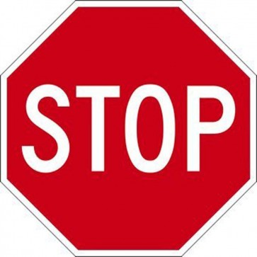 Stop Sign 600 x 450mm Aluminium