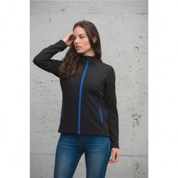 Stormtech Women's Orbiter Softshell - Black Azzure Blue Model