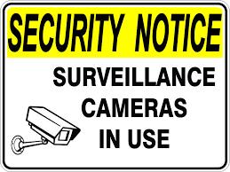 Surveillance Cameras In Use Sign