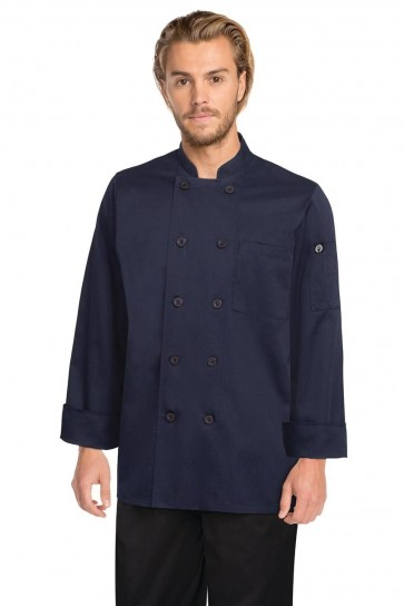 Chef Works Torino Navy Chef Jacket - Front