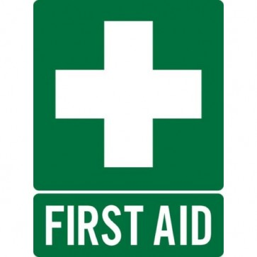 First Aid Sign Plastic 225mm X 300mm