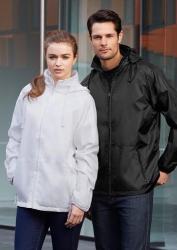 Biz Collection Unisex Spinnaker Jacket - Black Black & White White
