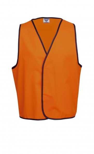 Blue Whale Hi Vis Day Vest Fluoro Orange Front