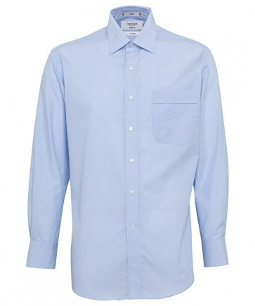 Van Heusen Mens Classic Fit Long Sleeve Polyester Cotton Yarn Dyed Stripe