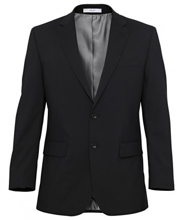 Van Heusen Mens Wool Blend Jacket- Black Front